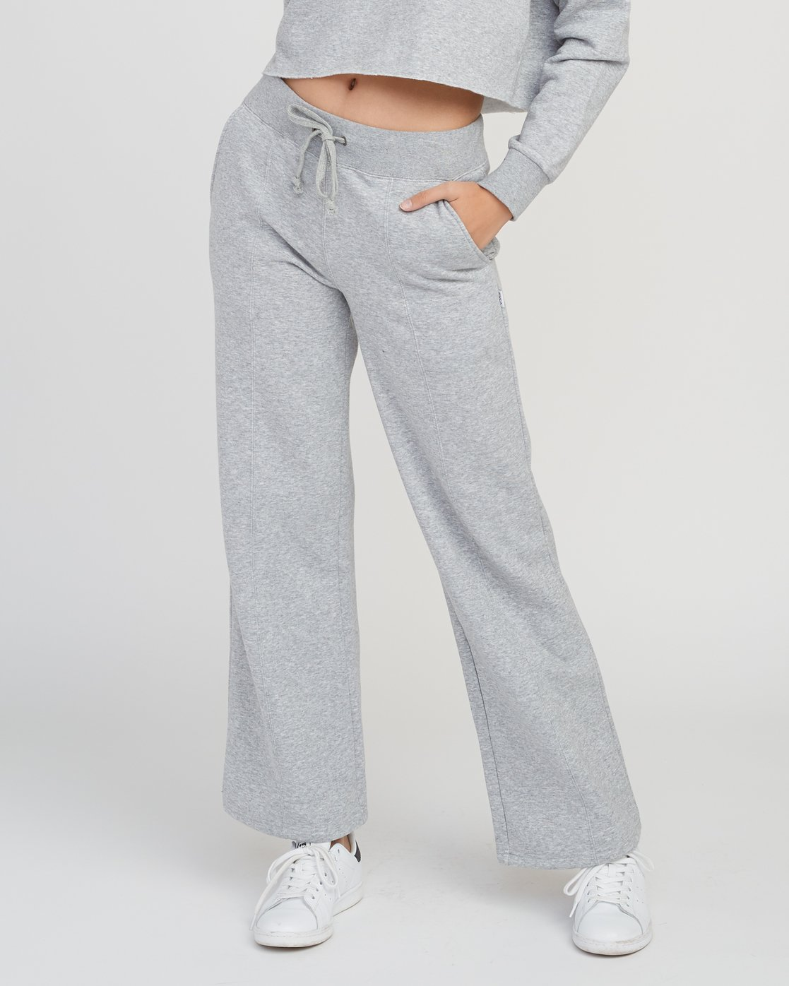 RVCA Womens Stakeit Wide Leg Fleece Pant