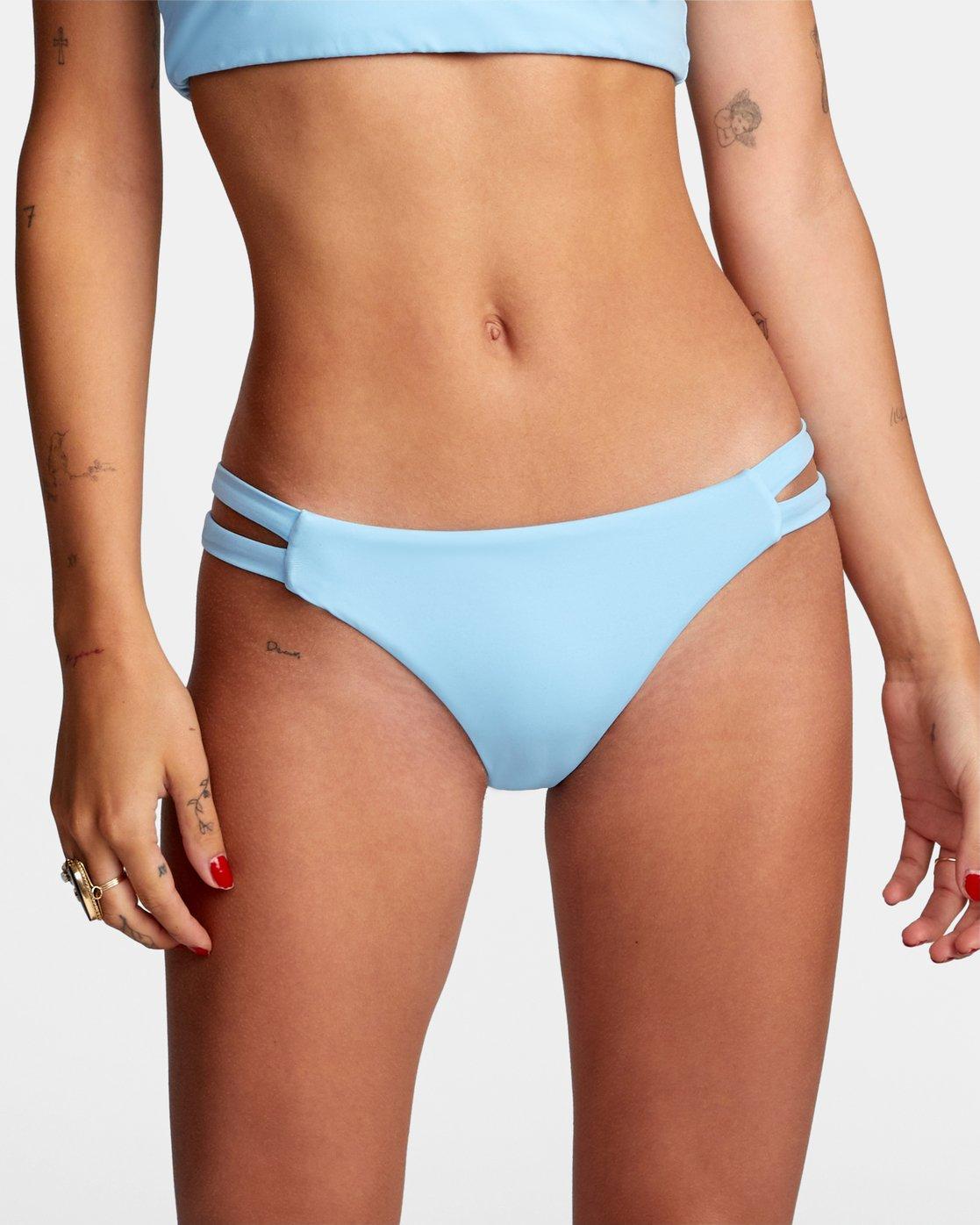 2 Solid - Full Bikini Bottoms for Women Blue W3SBRCRVP1 RVCA