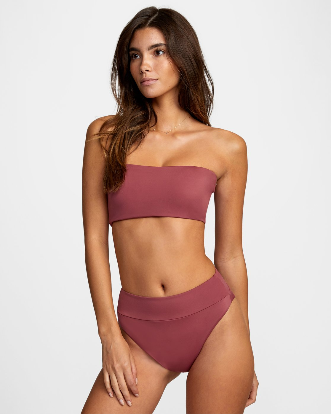 1 Solid High Rise - Mini Bikini Bottoms for Women Purple W3SBRFRVP1 RVCA