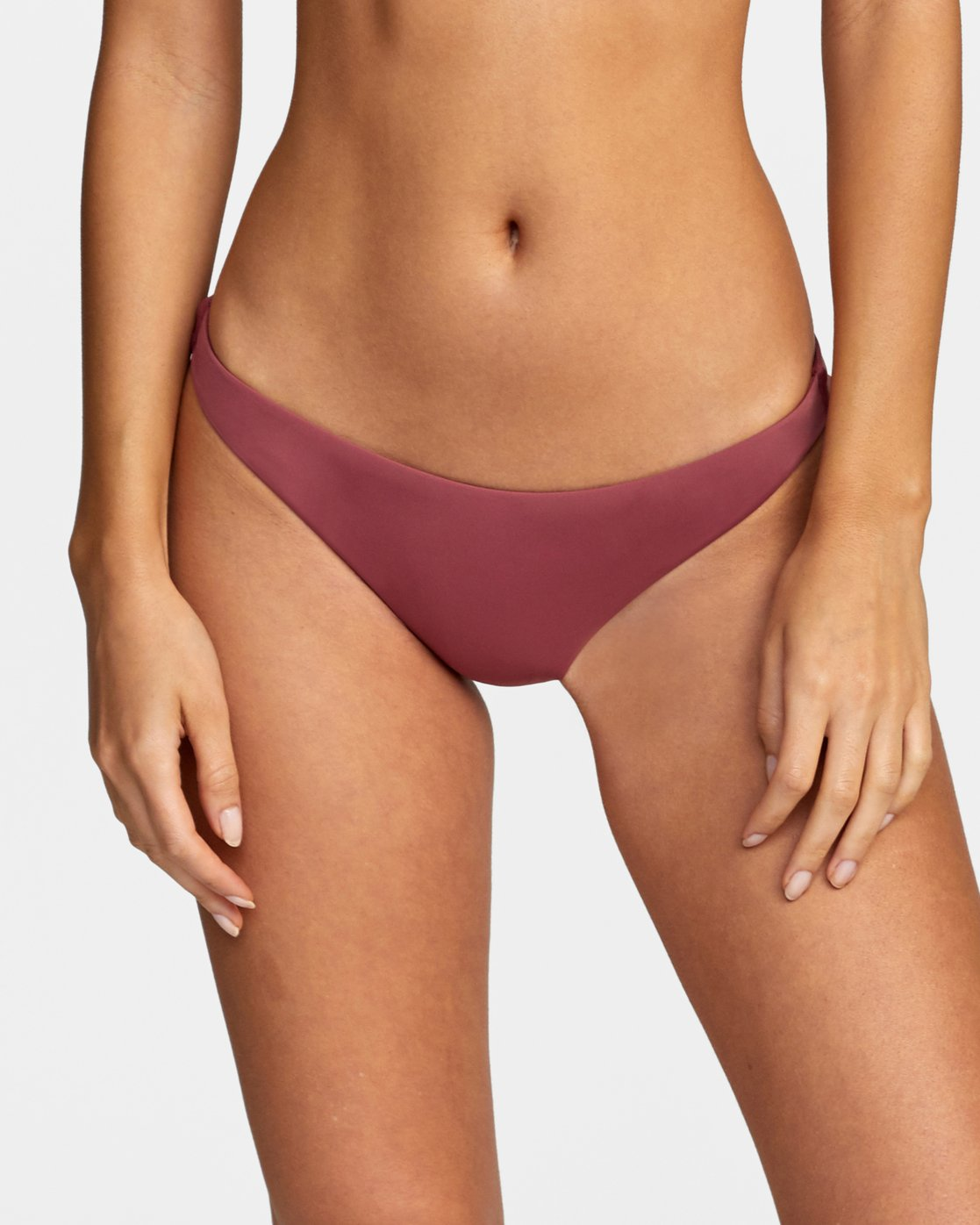 2 Solid Medium - Medium Bikini Bottoms for Women Purple W3SBRORVP1 RVCA