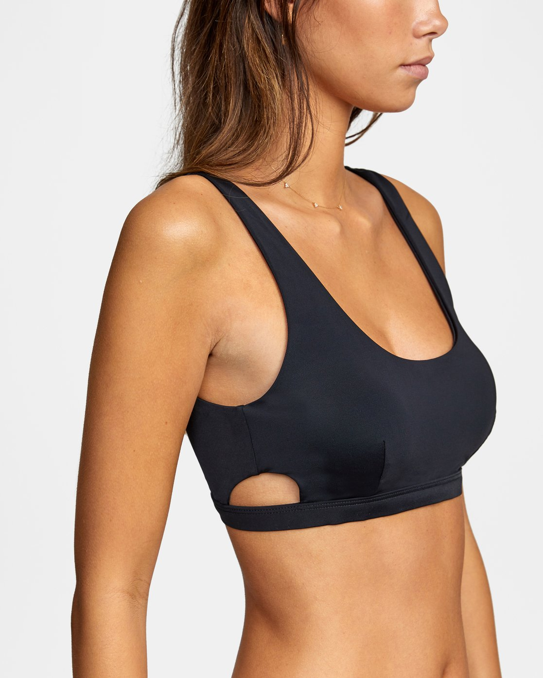 4 Solid Bralette - Bikini Top for Women Black W3STRBRVP1 RVCA