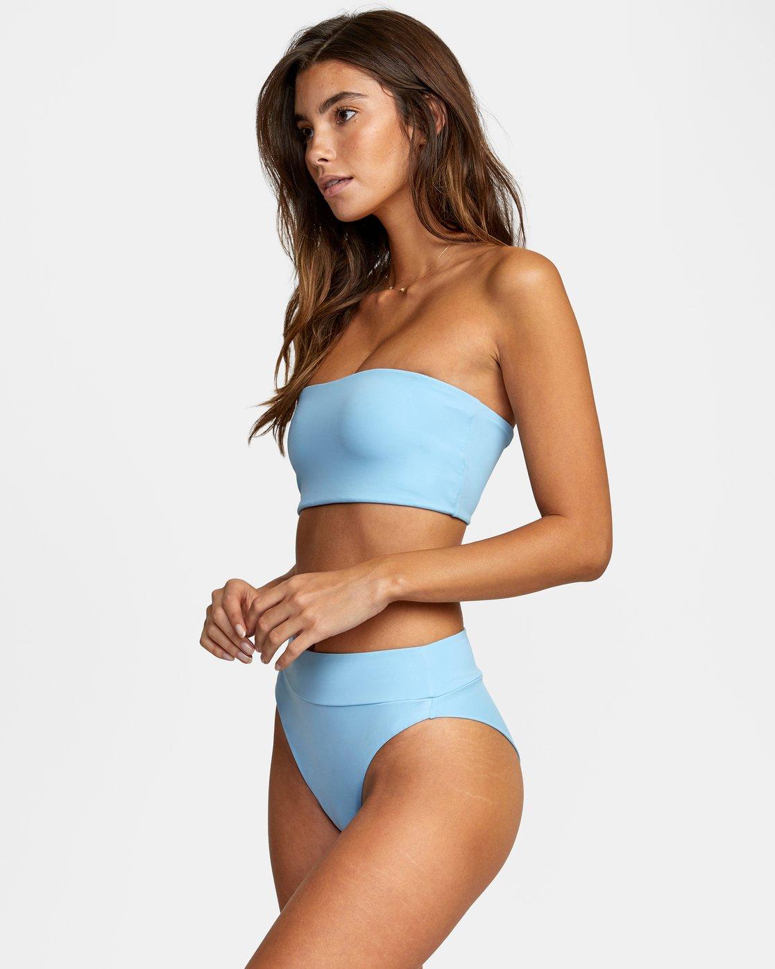 3 Solid Bandeau - Bikini Top for Women Blue W3STRMRVP1 RVCA