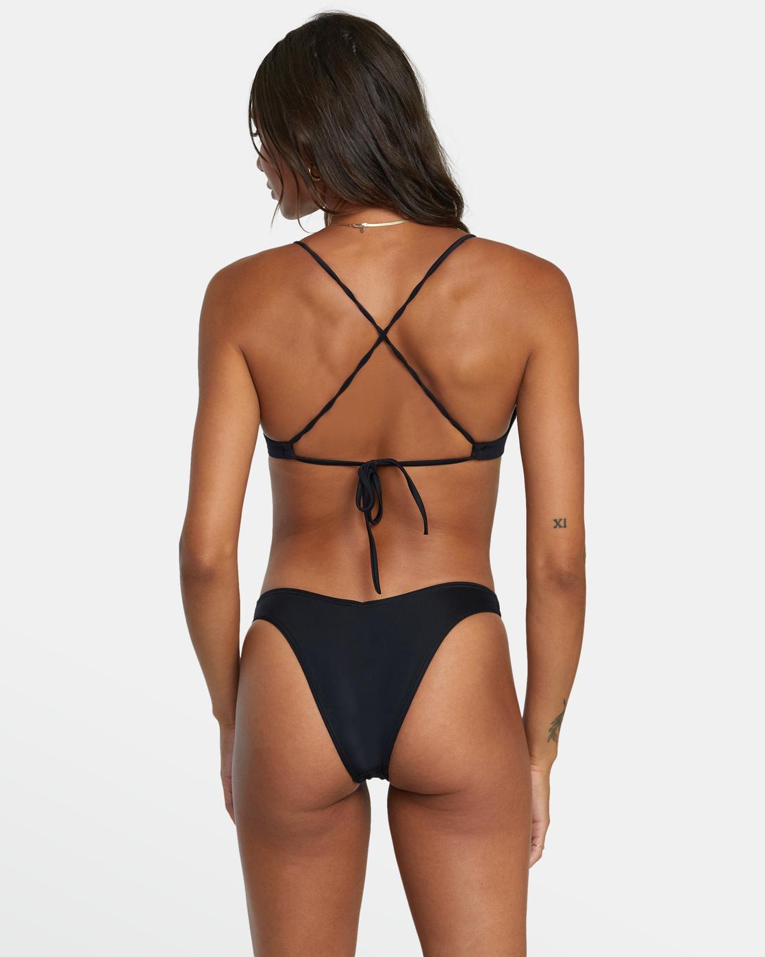 1 Solid Crossback - Bikini Top for Women Black W3STSDRVP1 RVCA