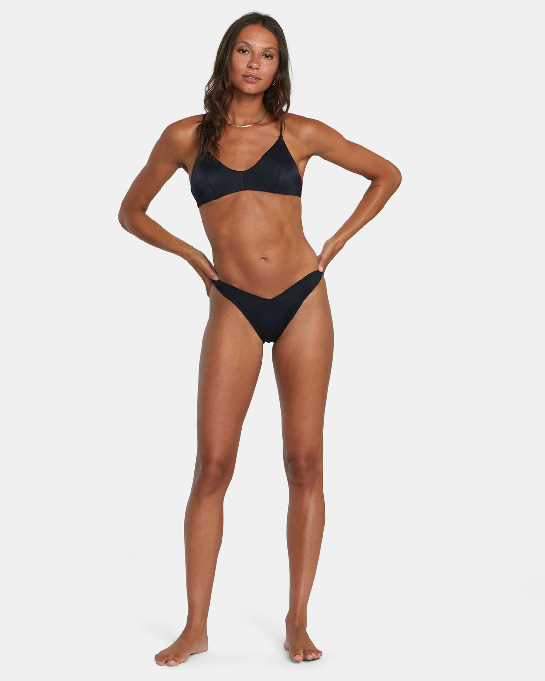 3 Solid Crossback - Bikini Top for Women Black W3STSDRVP1 RVCA