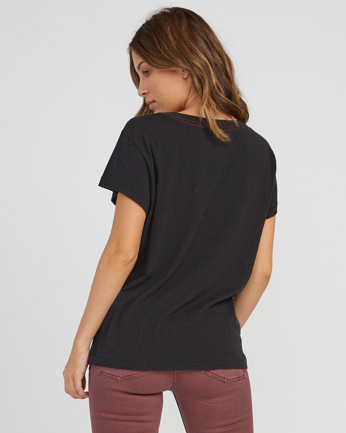 1 Marina Pocket T-Shirt Black W404SRMA RVCA