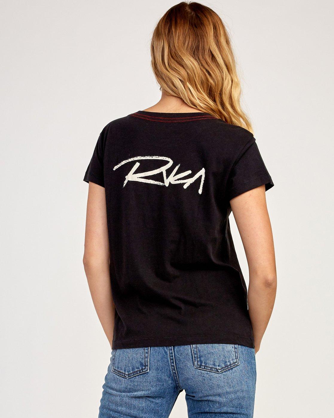 1 Fast Script T-Shirt Black W404TRFA RVCA