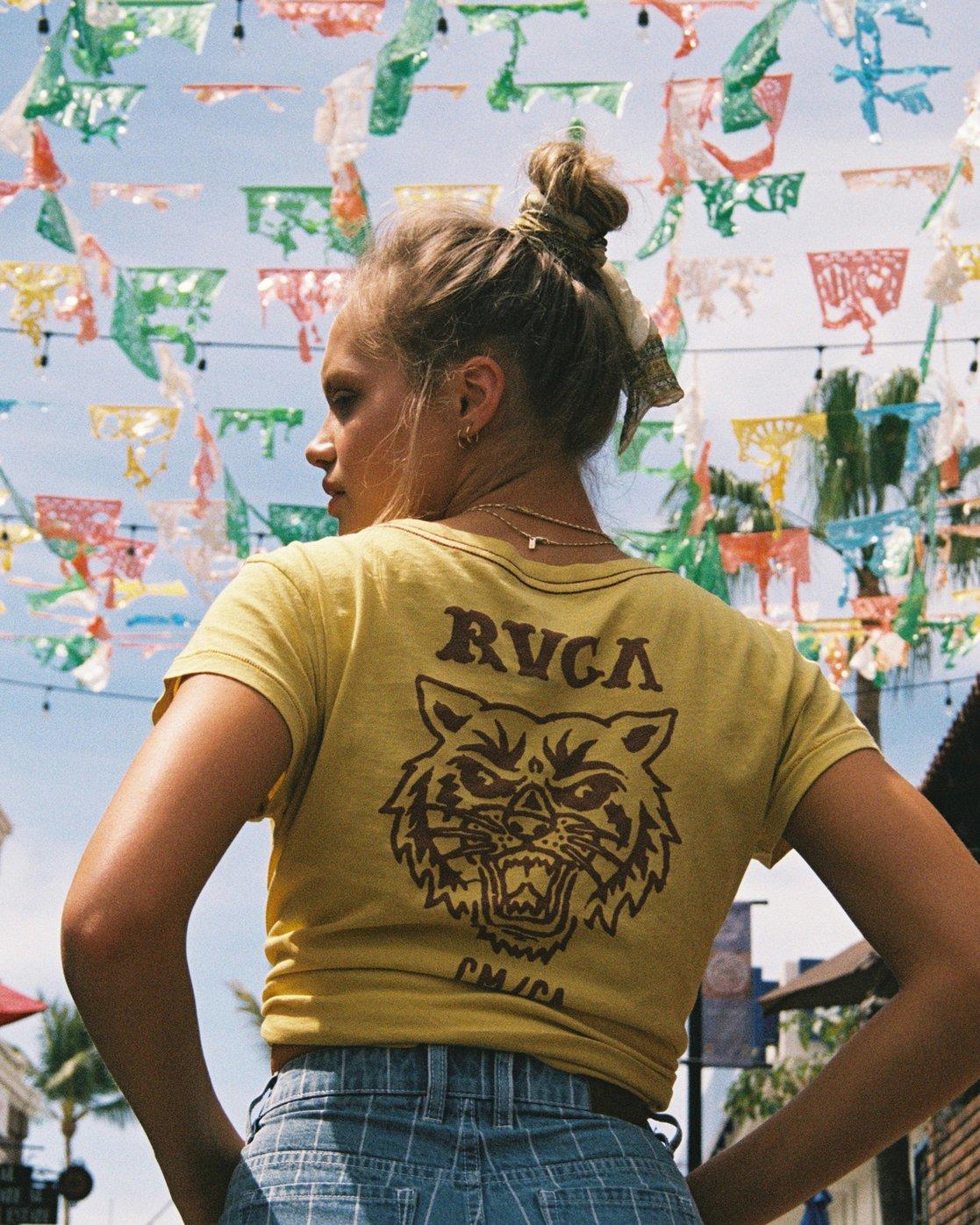 0 Heritage ANP T-Shirt Yellow W404TRHE RVCA