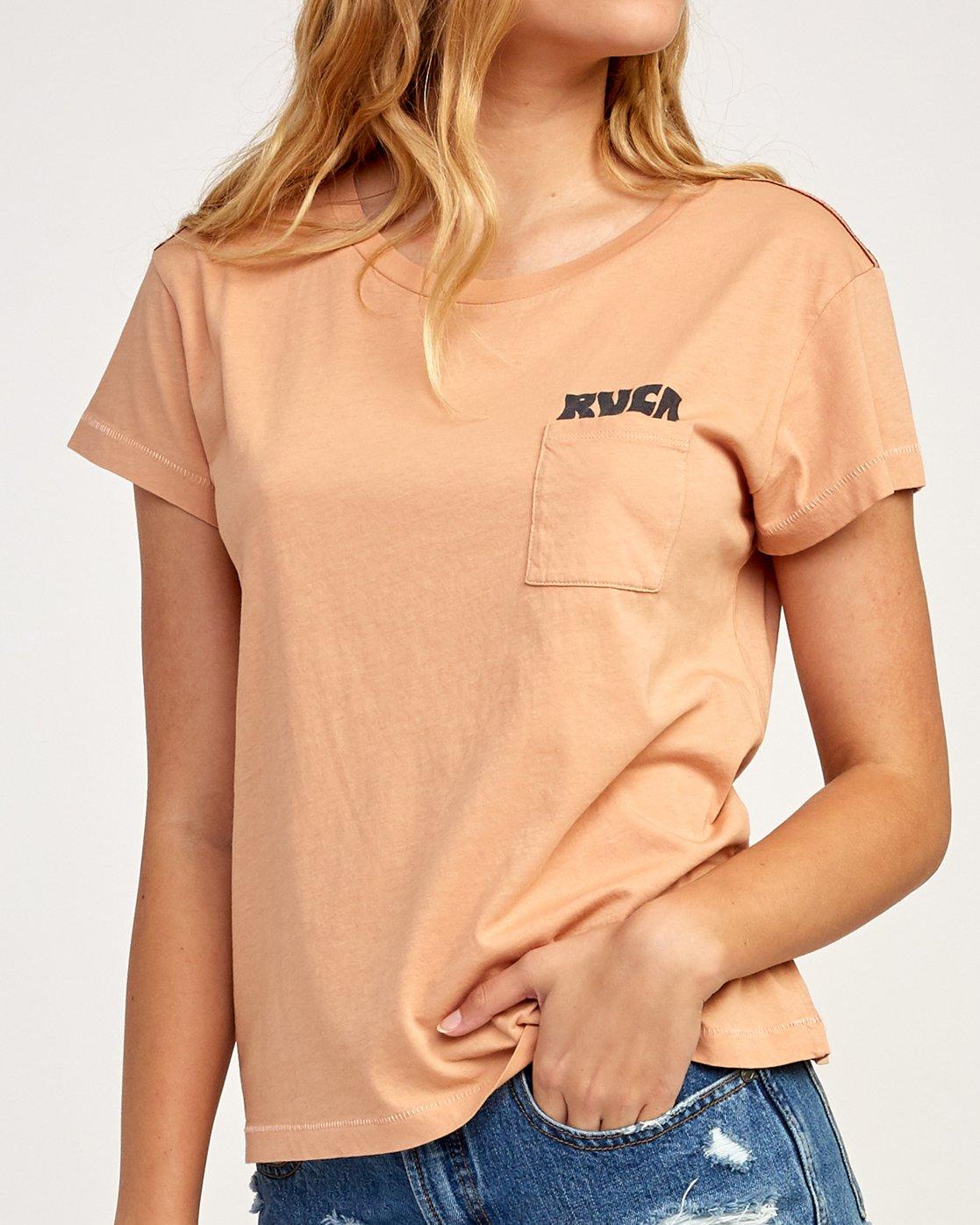 3 Heritage ANP T-Shirt Beige W404TRHE RVCA