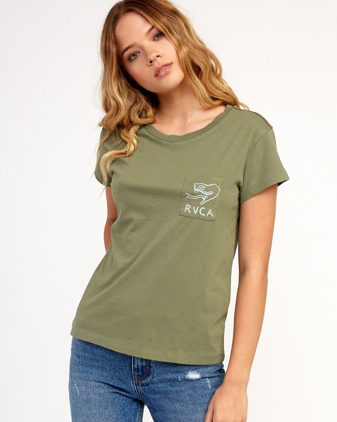 0 Heritage ANP T-Shirt Green W404TRHE RVCA