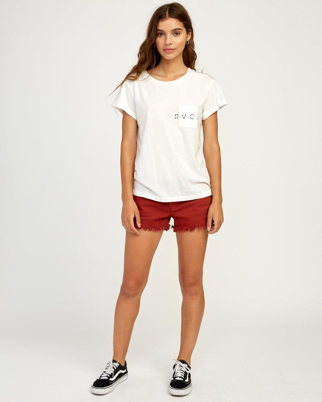 4 Inset T-Shirt White W404TRIN RVCA