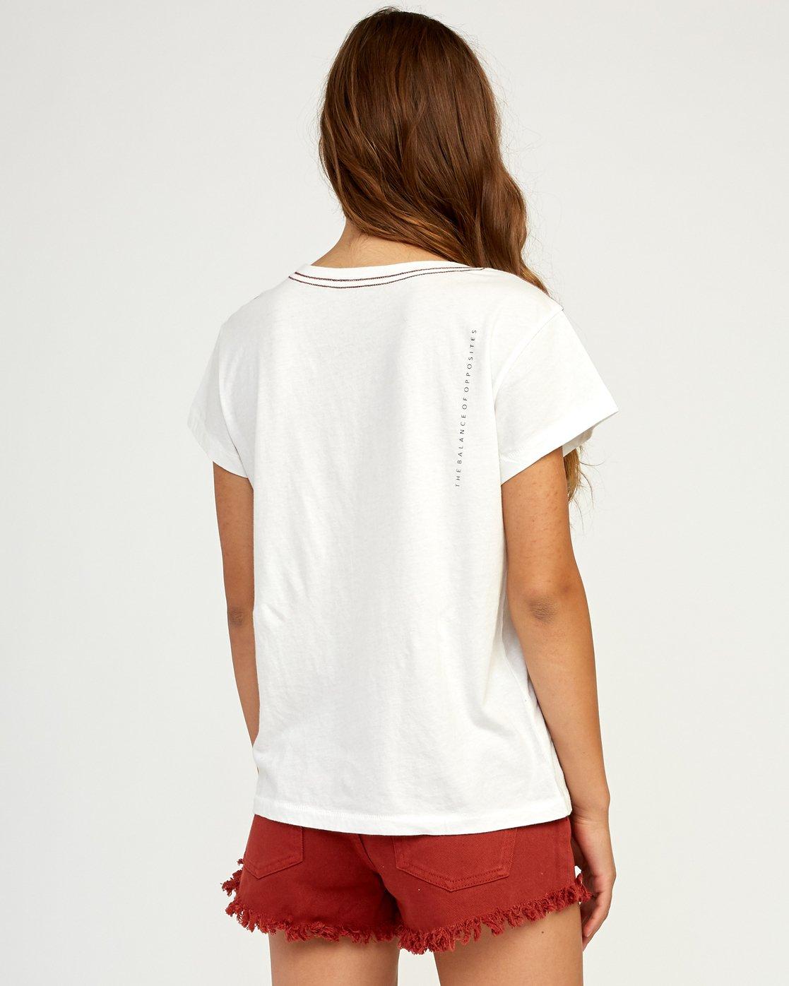 2 Inset T-Shirt White W404TRIN RVCA