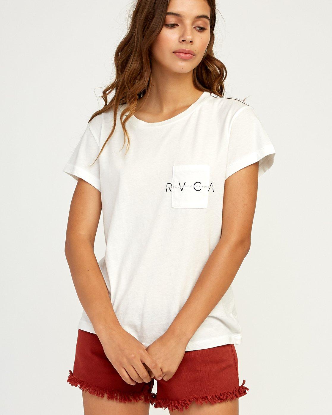 0 Inset T-Shirt White W404TRIN RVCA