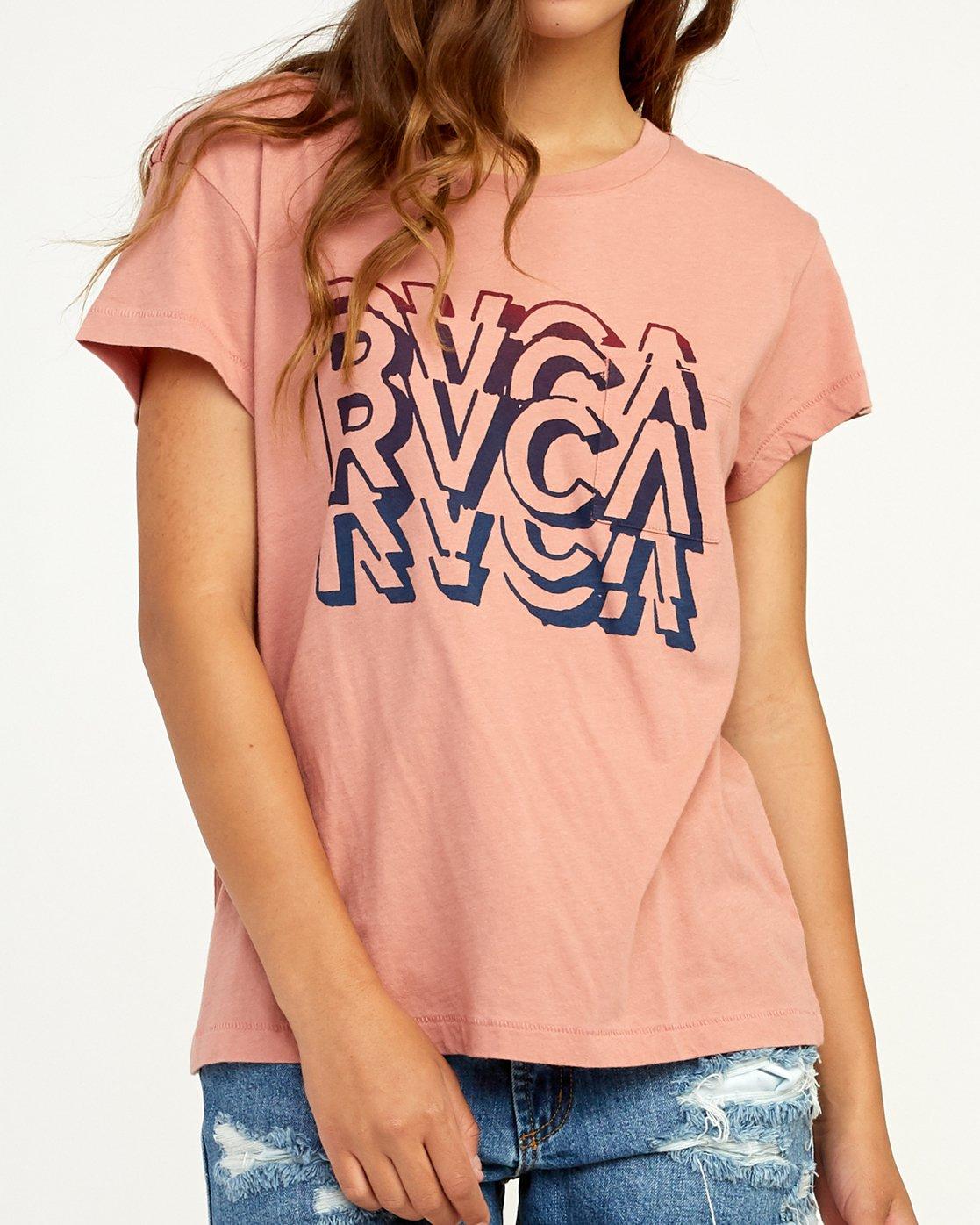 3 Static T-Shirt Brown W404TRST RVCA
