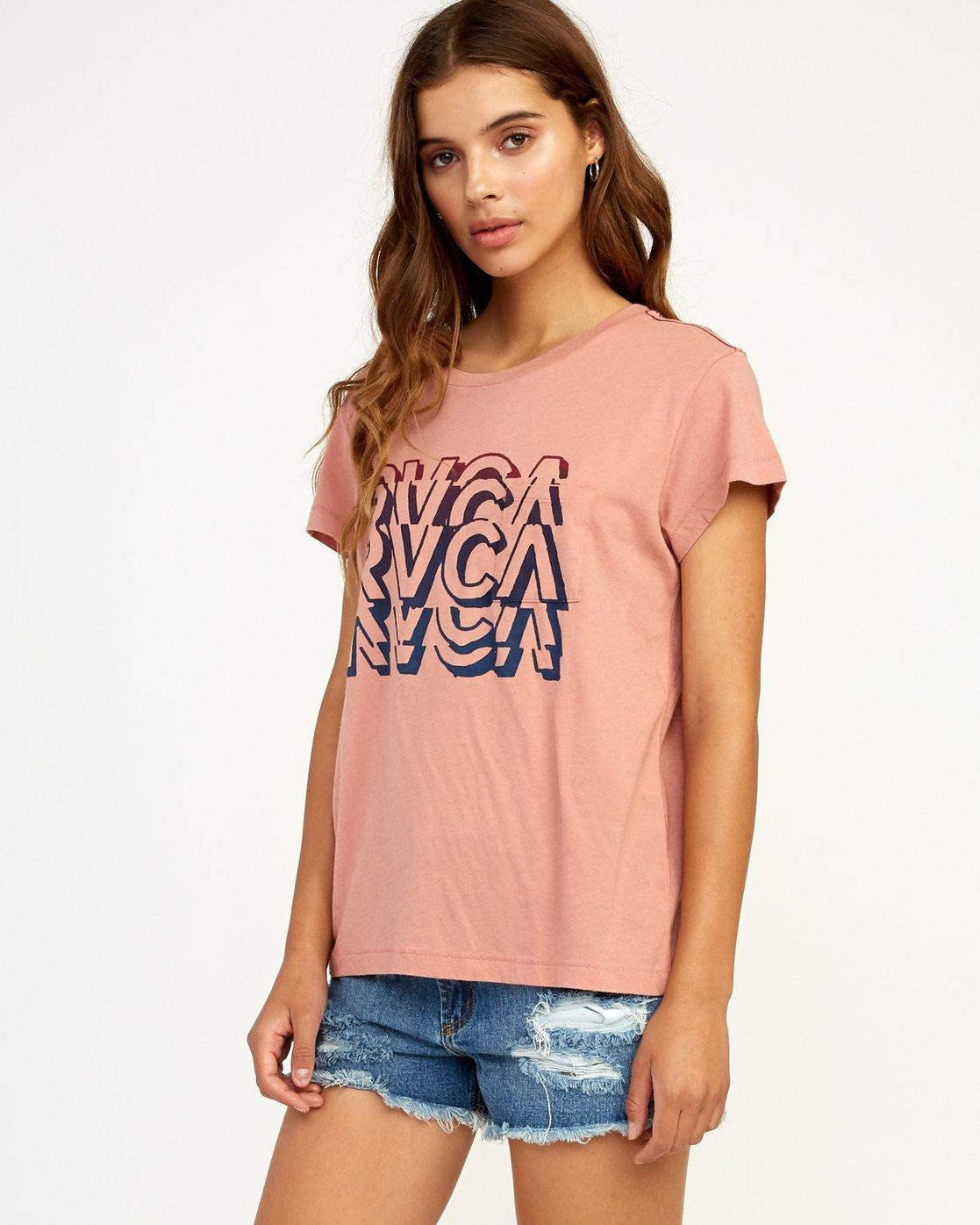1 Static T-Shirt Brown W404TRST RVCA