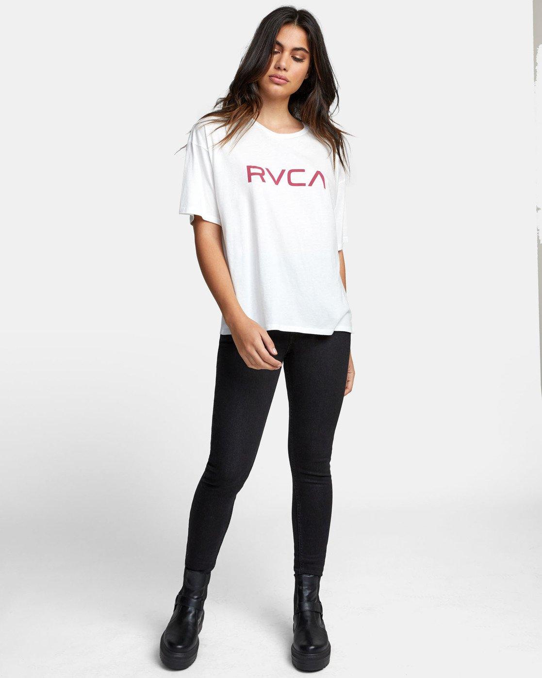 0 BIG RVCA BOYFRIEND T-SHIRT White W4071RBR RVCA