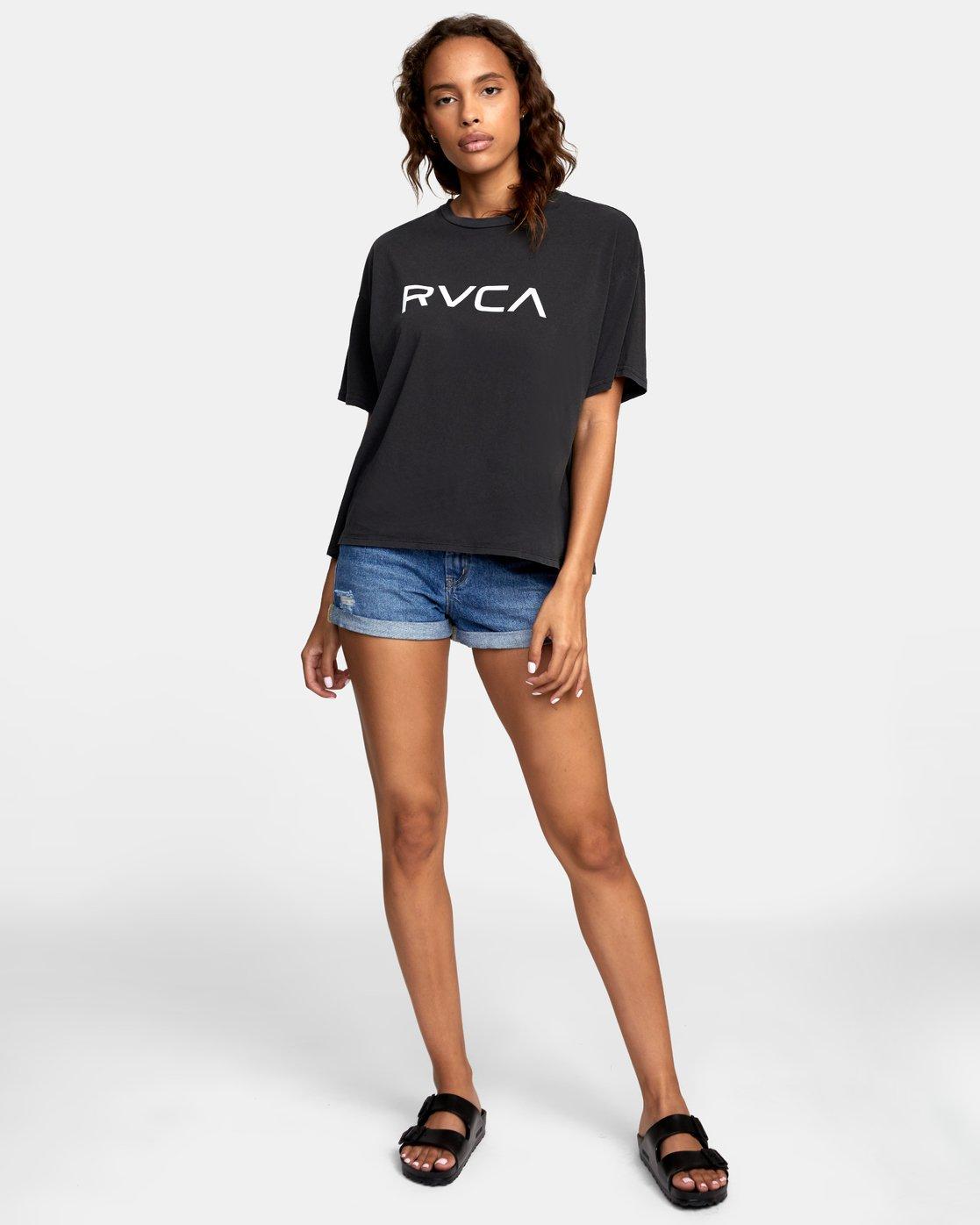1 BIG RVCA BOYFRIEND T-SHIRT Black W4071RBR RVCA