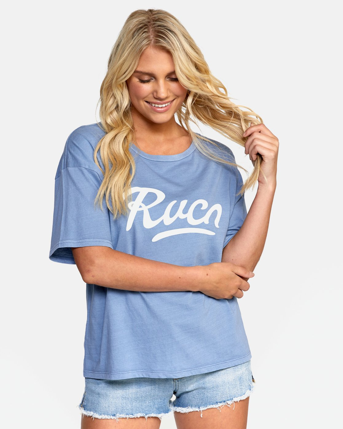 1 FRIDAY BOYFRIEND TEE Purple W4072RFY RVCA