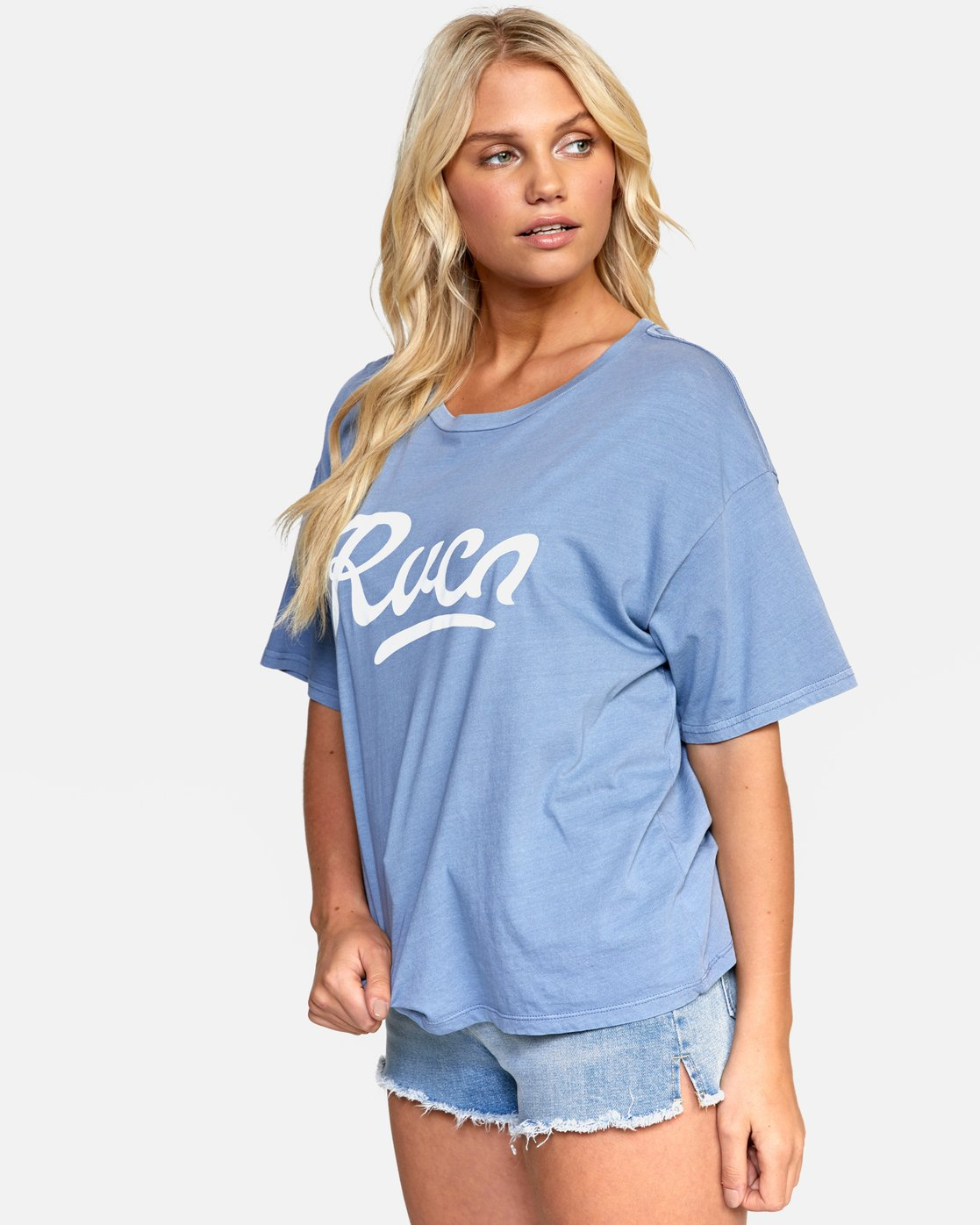 2 FRIDAY BOYFRIEND TEE Purple W4072RFY RVCA