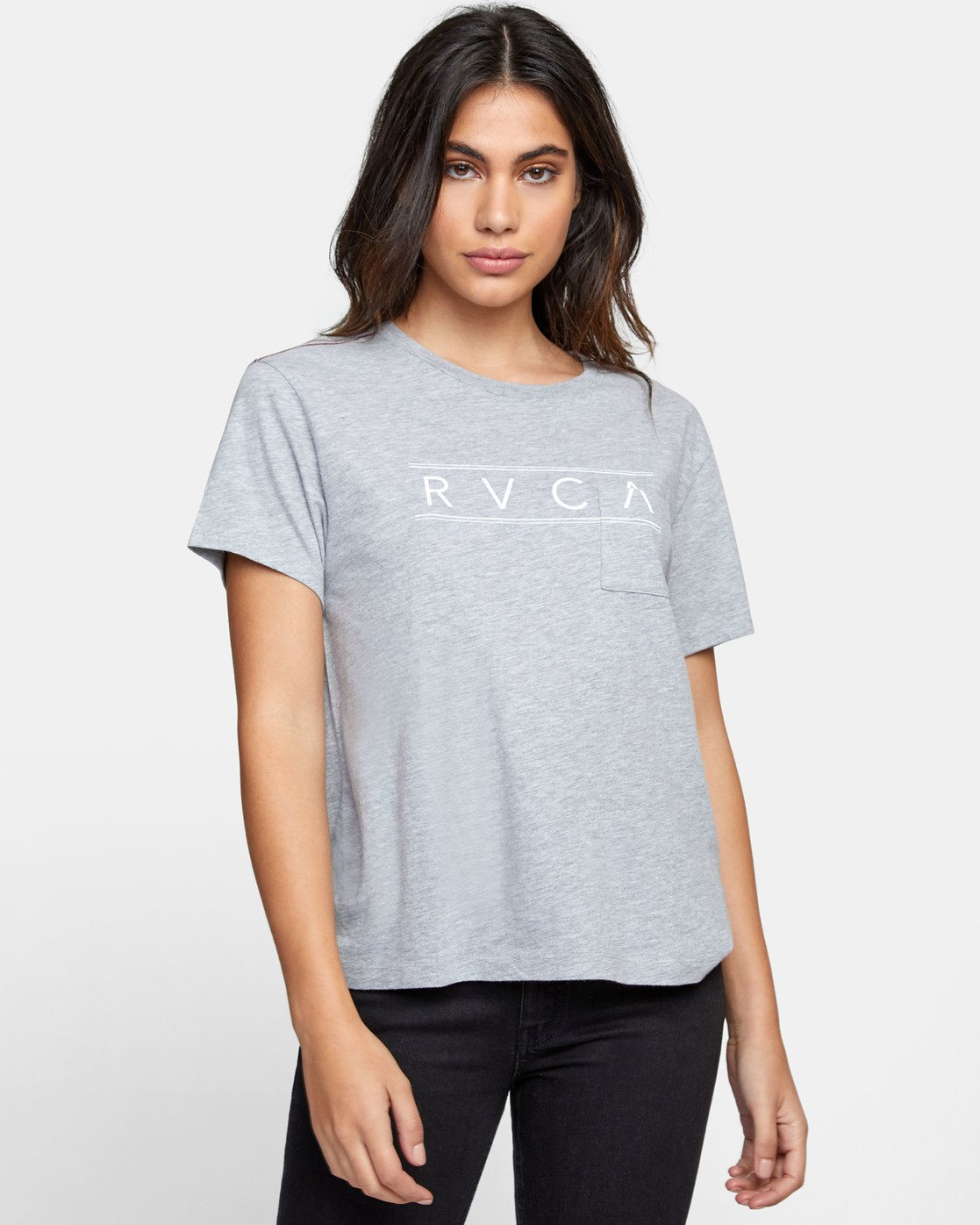0 RVCA AVE POCKET T-SHIRT Grey W4101RRA RVCA