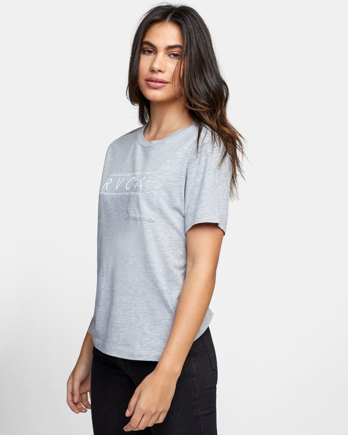 2 RVCA AVE POCKET T-SHIRT Grey W4101RRA RVCA