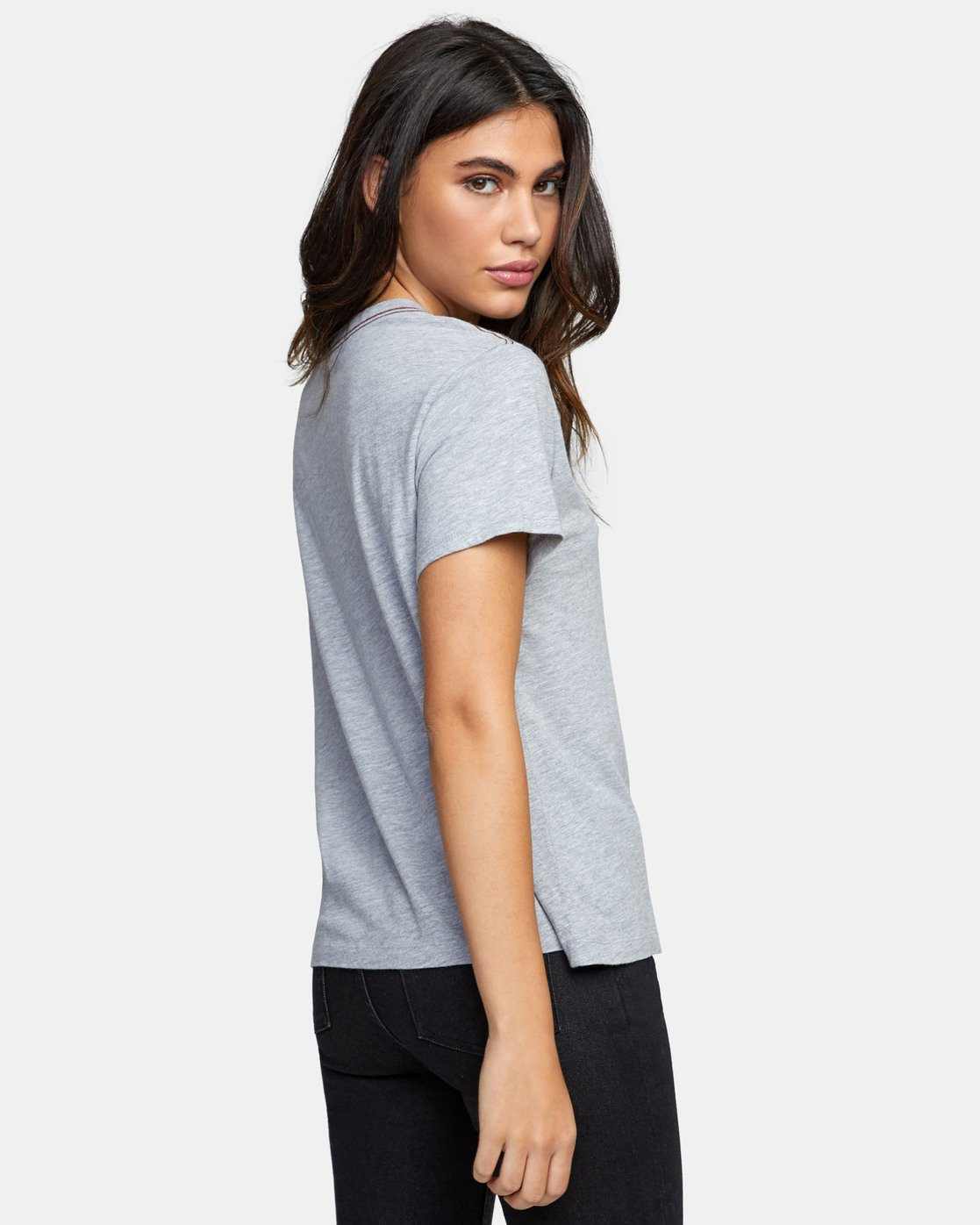 3 RVCA AVE POCKET T-SHIRT Grey W4101RRA RVCA
