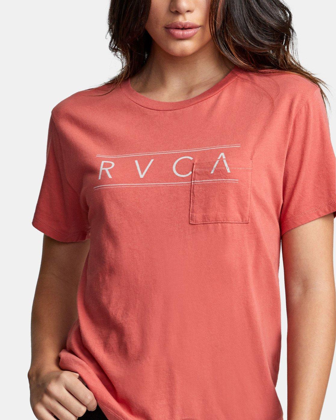 4 RVCA AVE POCKET T-SHIRT Red W4101RRA RVCA