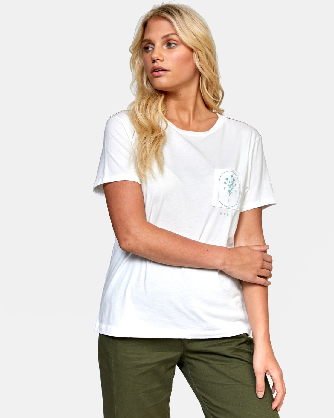 0 MEADOW TEE White W4102RME RVCA