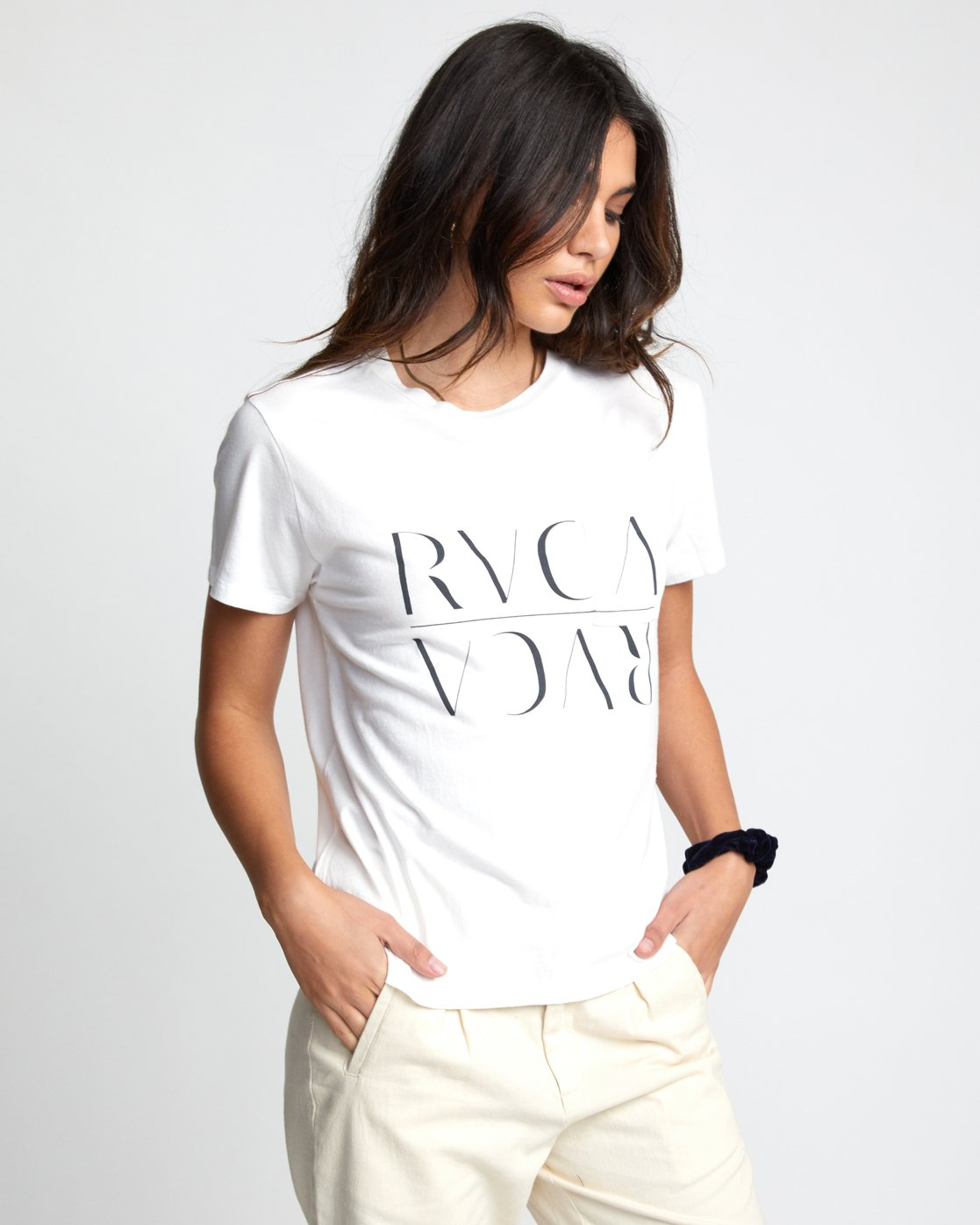 3 UNDER OVER TEE White W4103RUO RVCA
