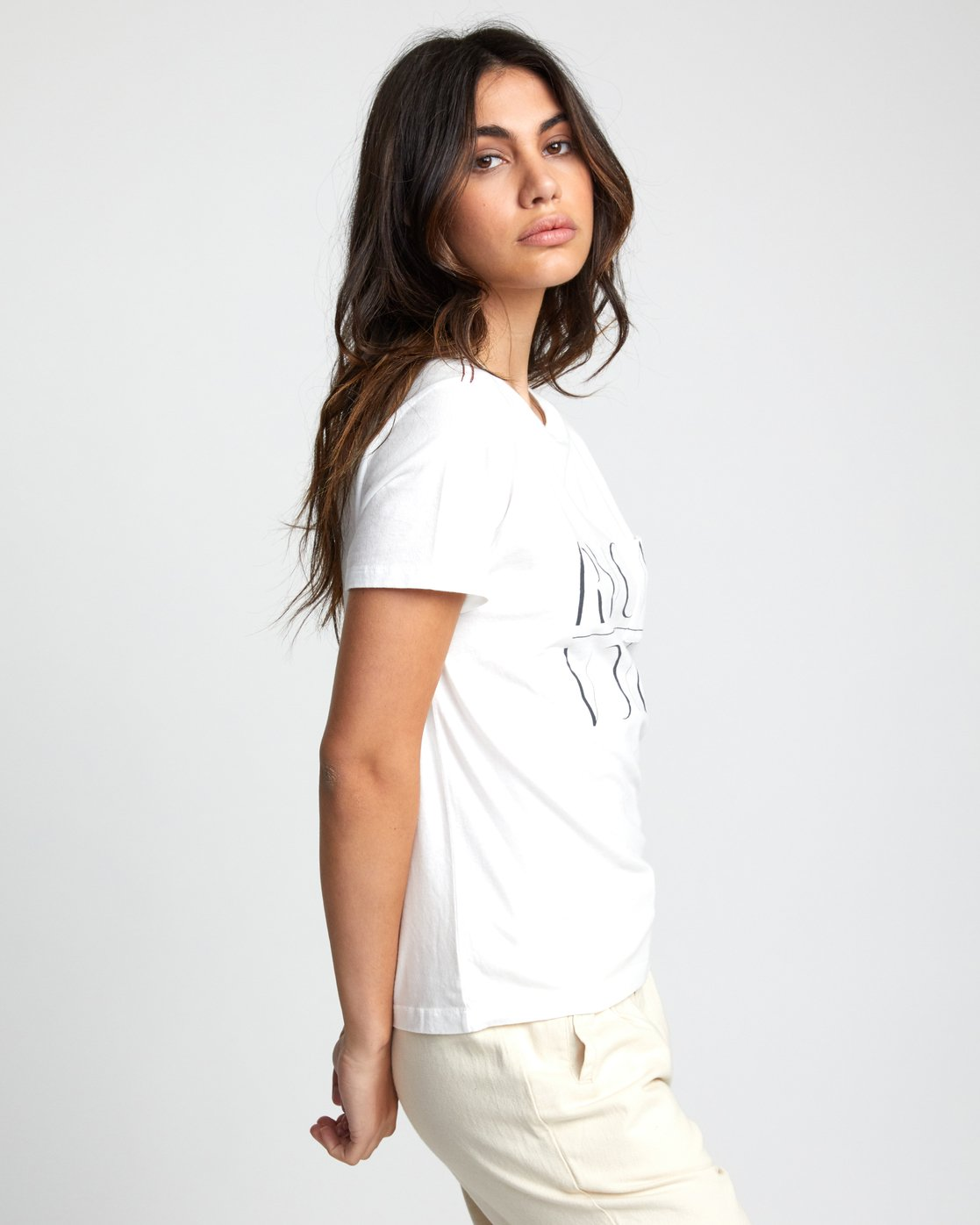 4 UNDER OVER TEE White W4103RUO RVCA