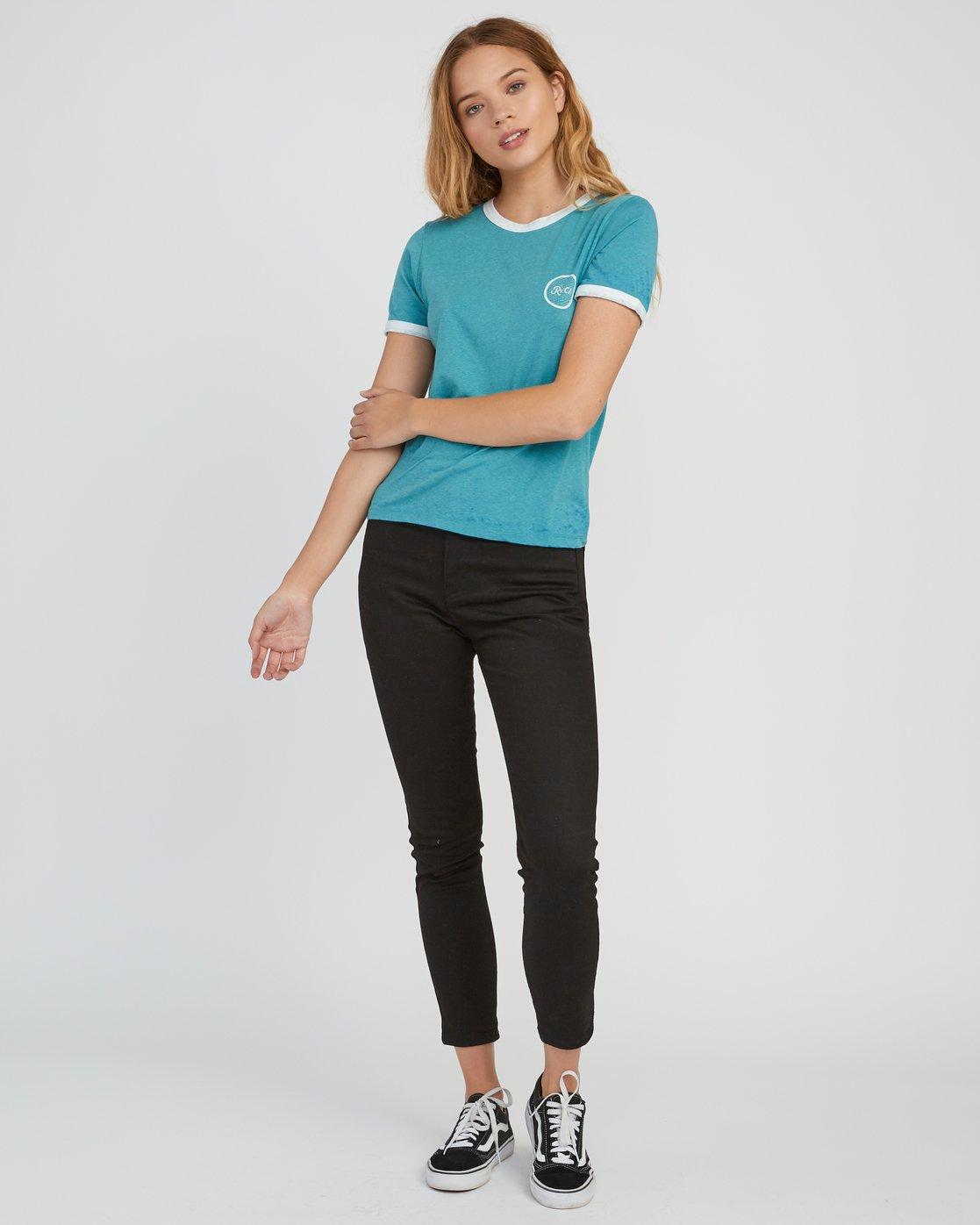 4 Pixel Script Burnout Ringer T-Shirt Brown W410SRPI RVCA