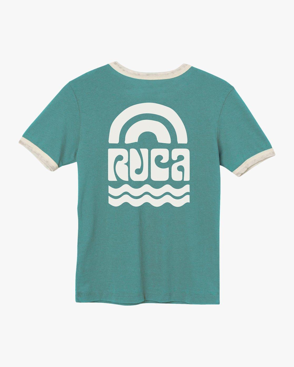 6 Rivey Era Burnout Ringer T-Shirt Pink W410SRRI RVCA