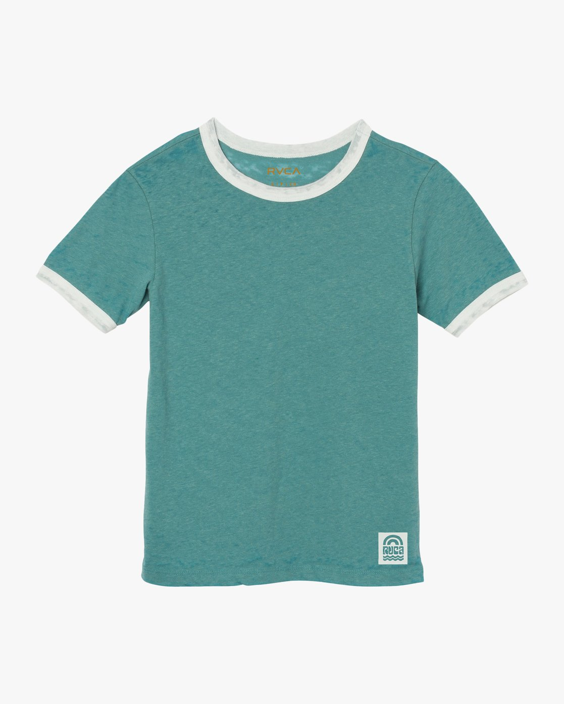 5 Rivey Era Burnout Ringer T-Shirt Pink W410SRRI RVCA
