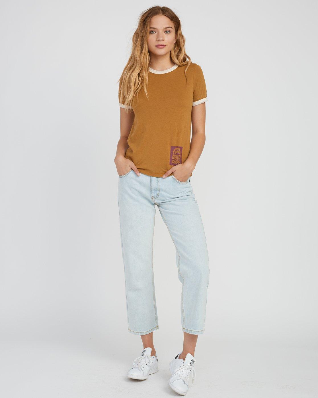 RVCA Womens Rivey Era Short Sleeve Ringer T-Shirt