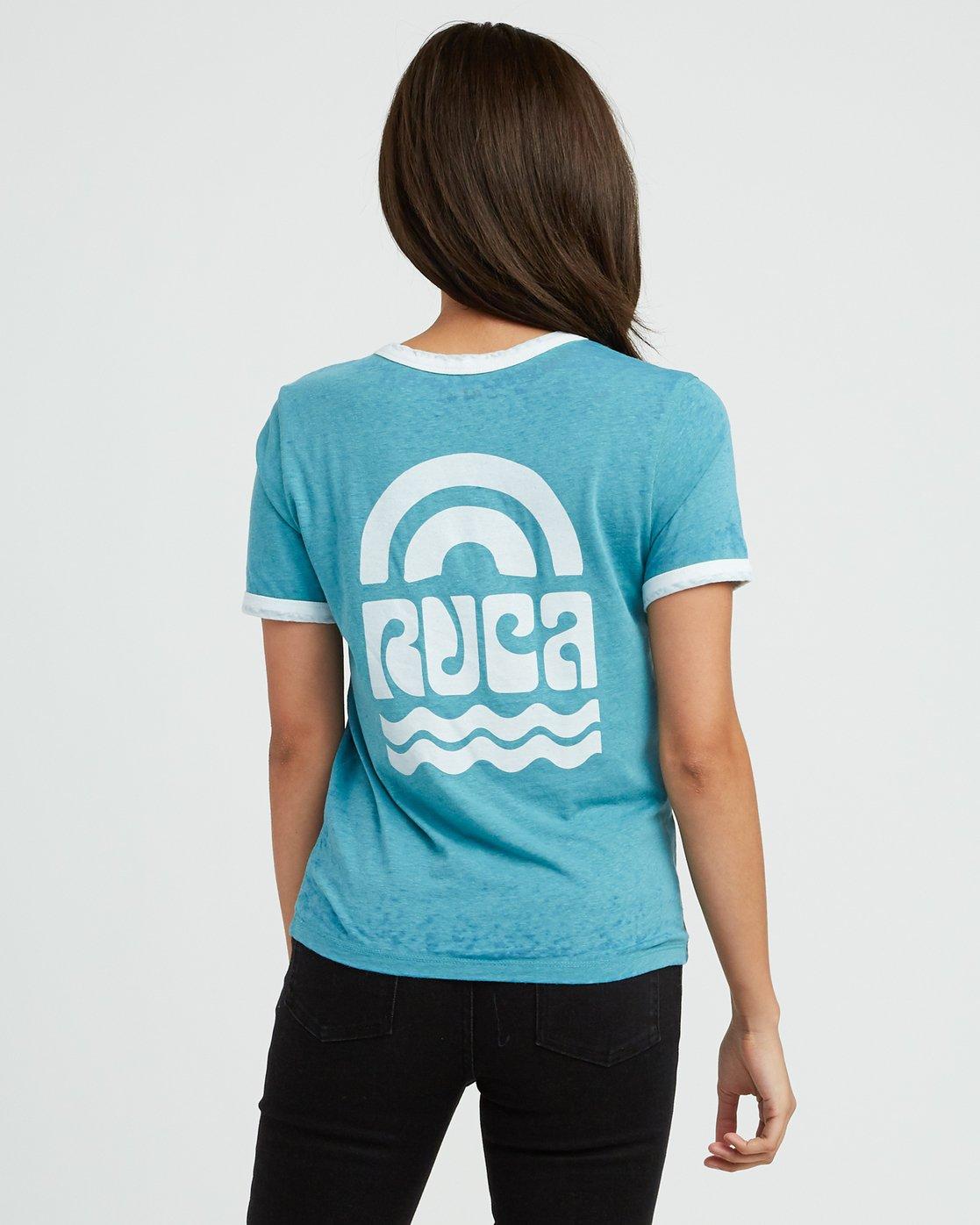 2 Rivey Era Burnout Ringer T-Shirt Pink W410SRRI RVCA