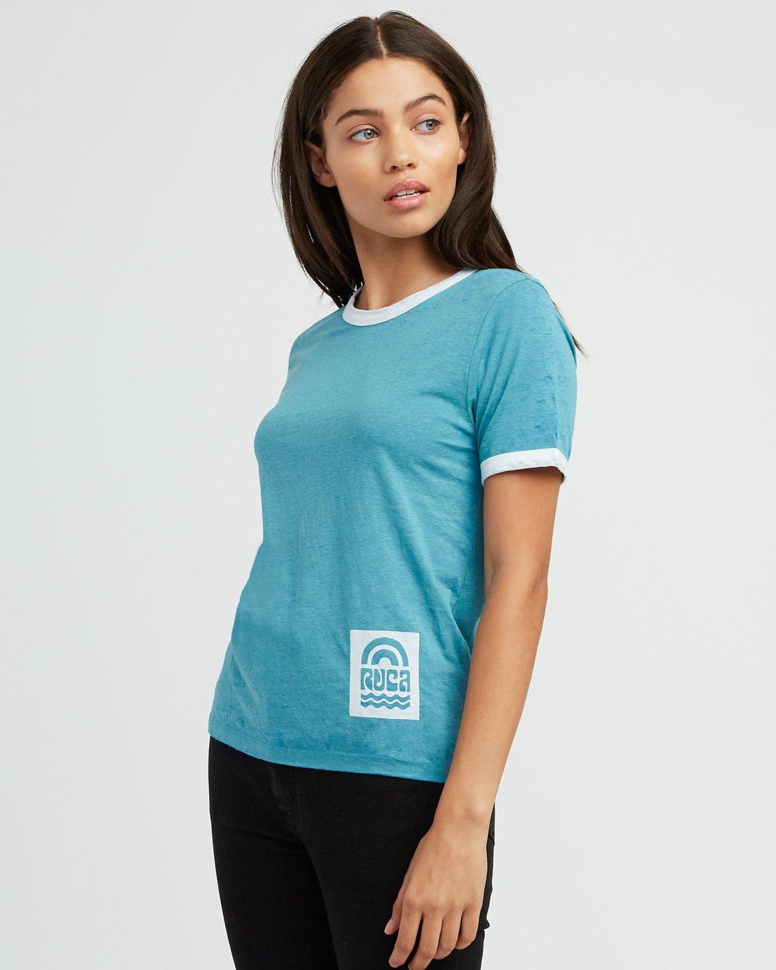 1 Rivey Era Burnout Ringer T-Shirt Pink W410SRRI RVCA