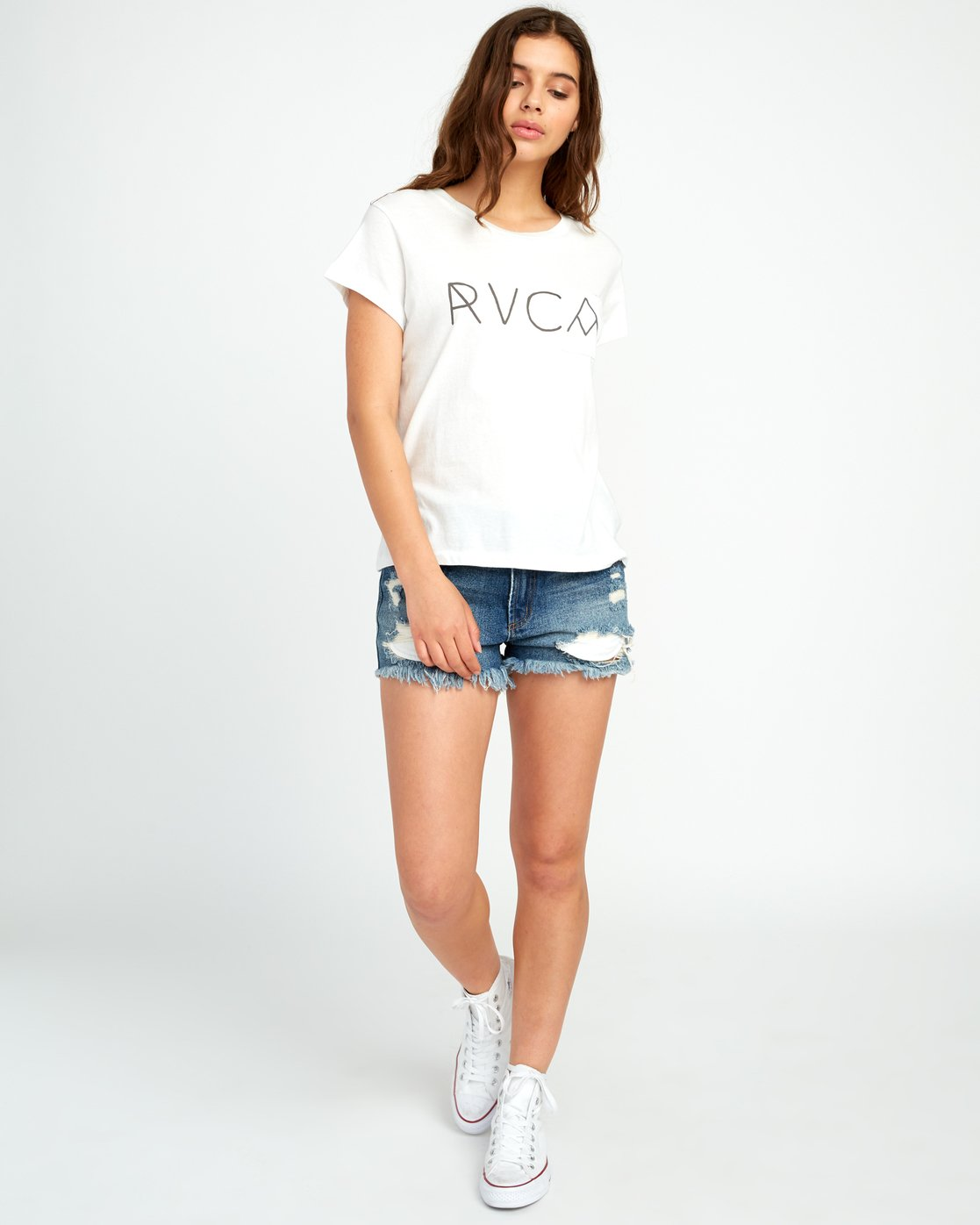 3 Angler Relaxed Pocket T-Shirt White W412URAN RVCA