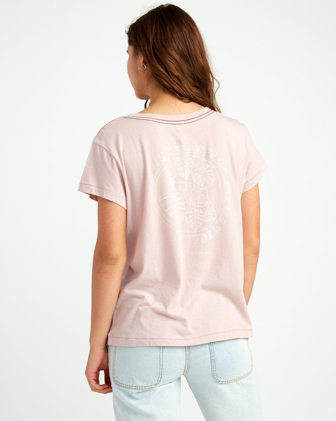 2 Flora Seal Relaxed Pocket T-Shirt Pink W412URFL RVCA