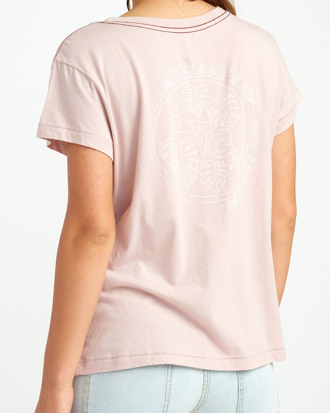 3 Flora Seal Relaxed Pocket T-Shirt Pink W412URFL RVCA
