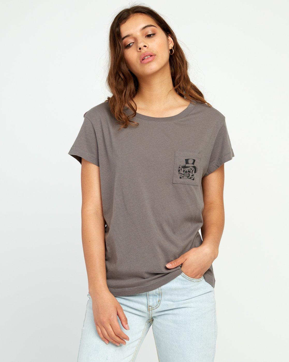 1 Bert Krak Pick Your Battles Pocket T-Shirt Grey W412URPI RVCA
