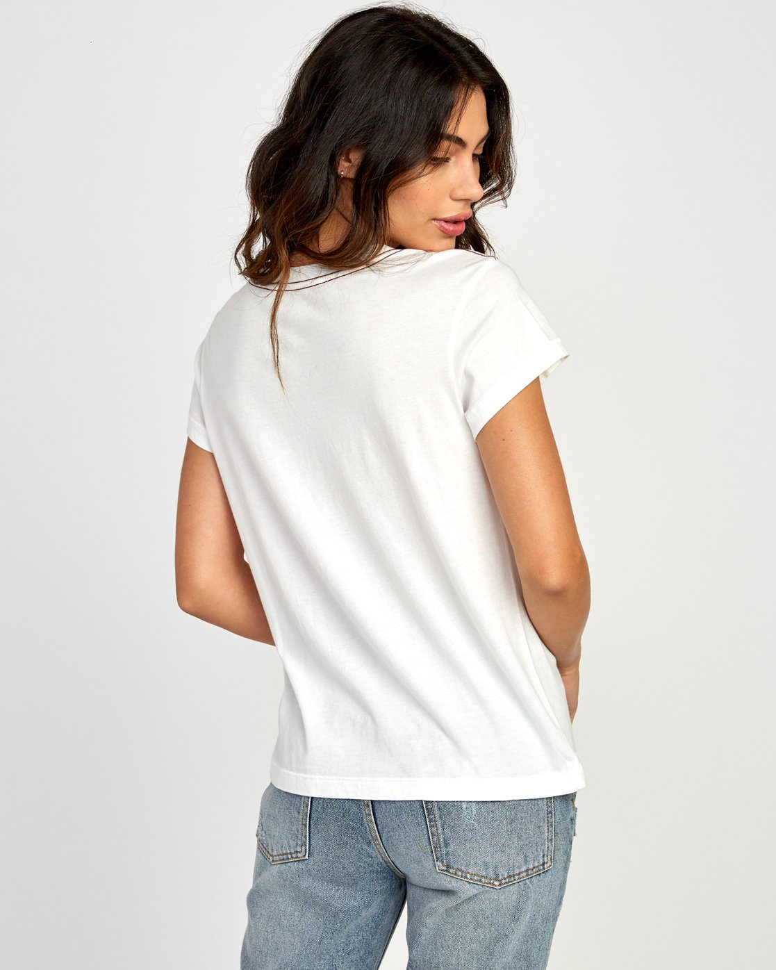 2 Copy Cat Relaxed T-Shirt White W412VRCO RVCA