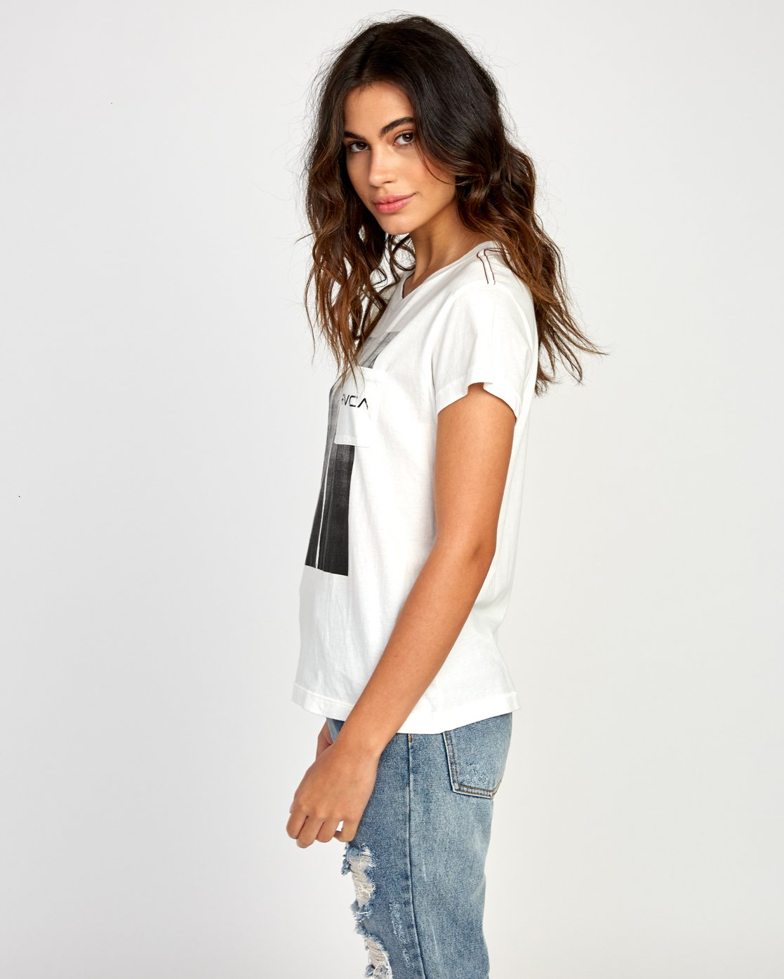 1 Copy Cat Relaxed T-Shirt White W412VRCO RVCA