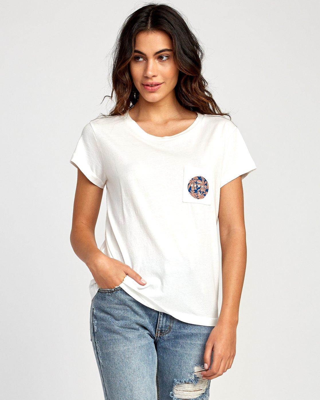 1 Da Aina Fill Pocket T-Shirt White W412VRDH RVCA