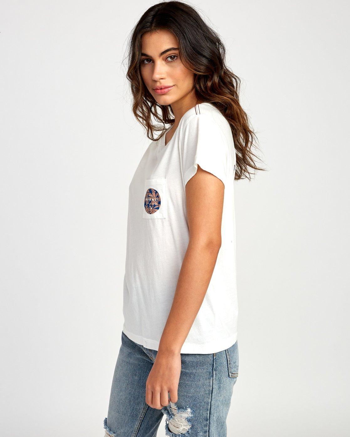2 Da Aina Fill Pocket T-Shirt White W412VRDH RVCA