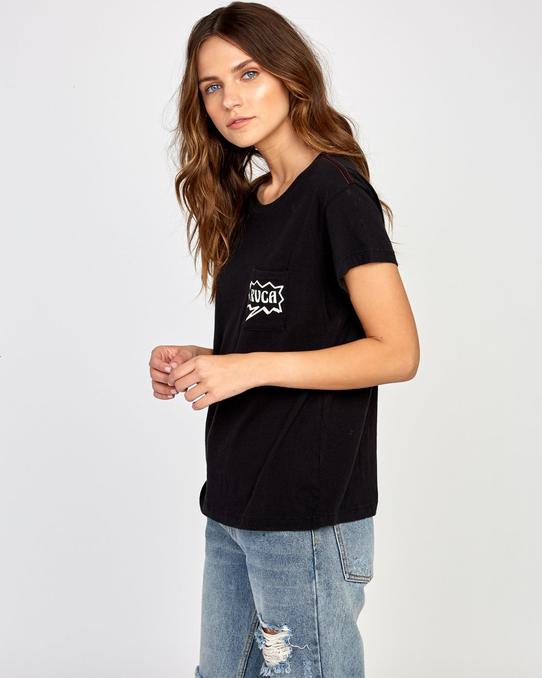 2 Explosive Relaxed T-Shirt Black W412VREX RVCA