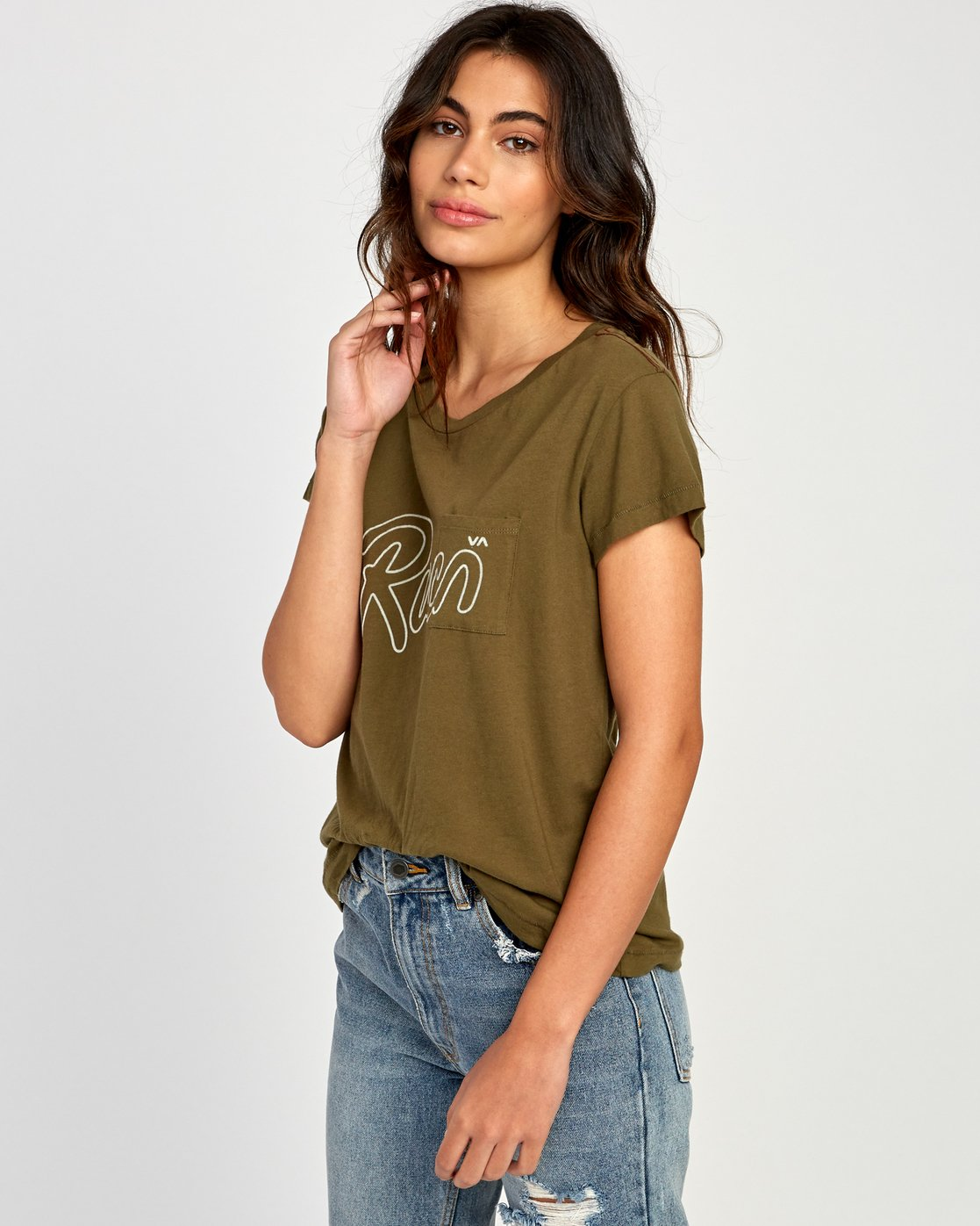 1 Flow Relaxed T-Shirt  W412VRFL RVCA