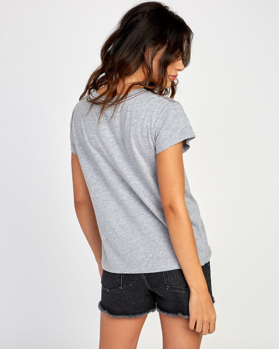 2 Flow Relaxed T-Shirt Grey W412VRFL RVCA