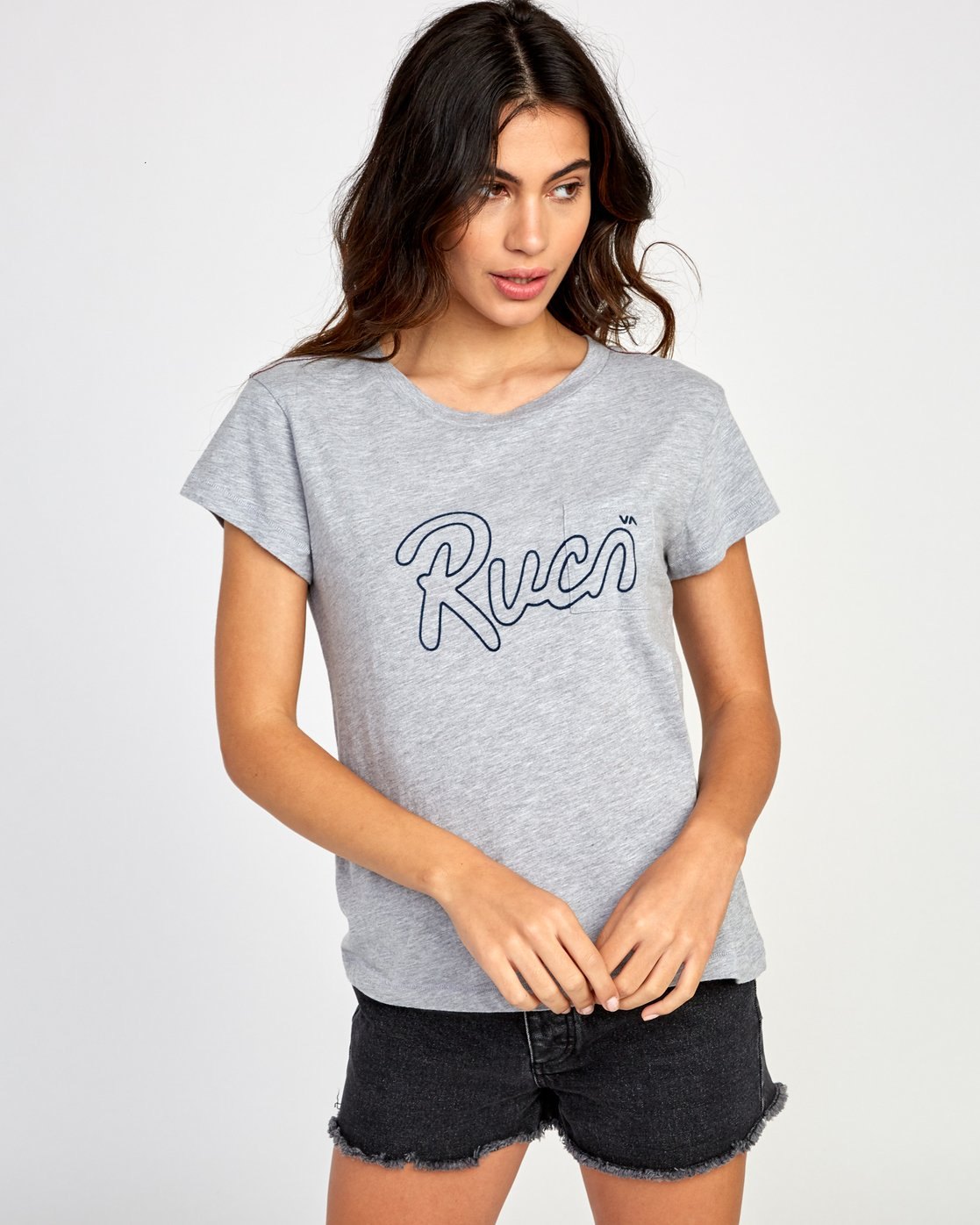 0 Flow Relaxed T-Shirt Grey W412VRFL RVCA