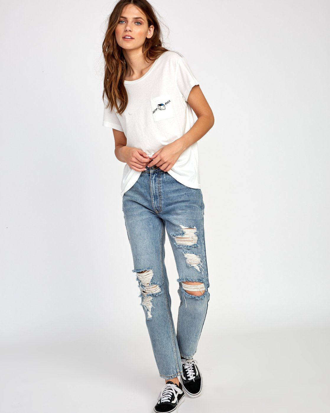 3 Smith Street T-Shirt White W412VRSS RVCA
