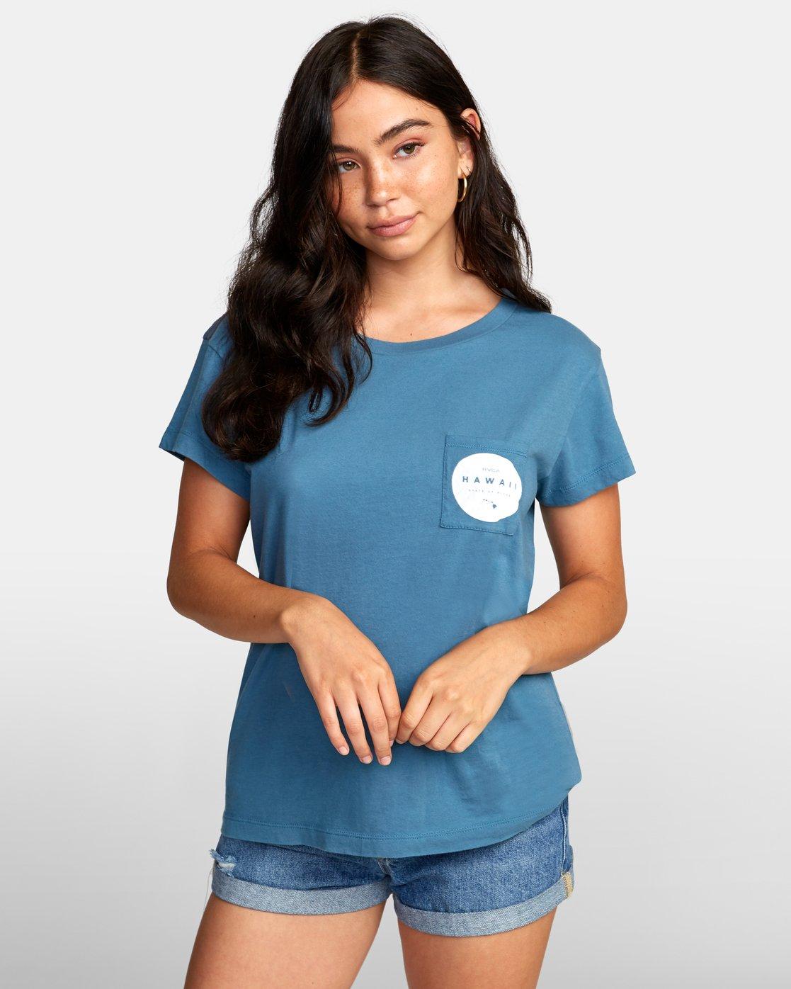 1 Da Aina T-Shirt Green W412WRDF RVCA