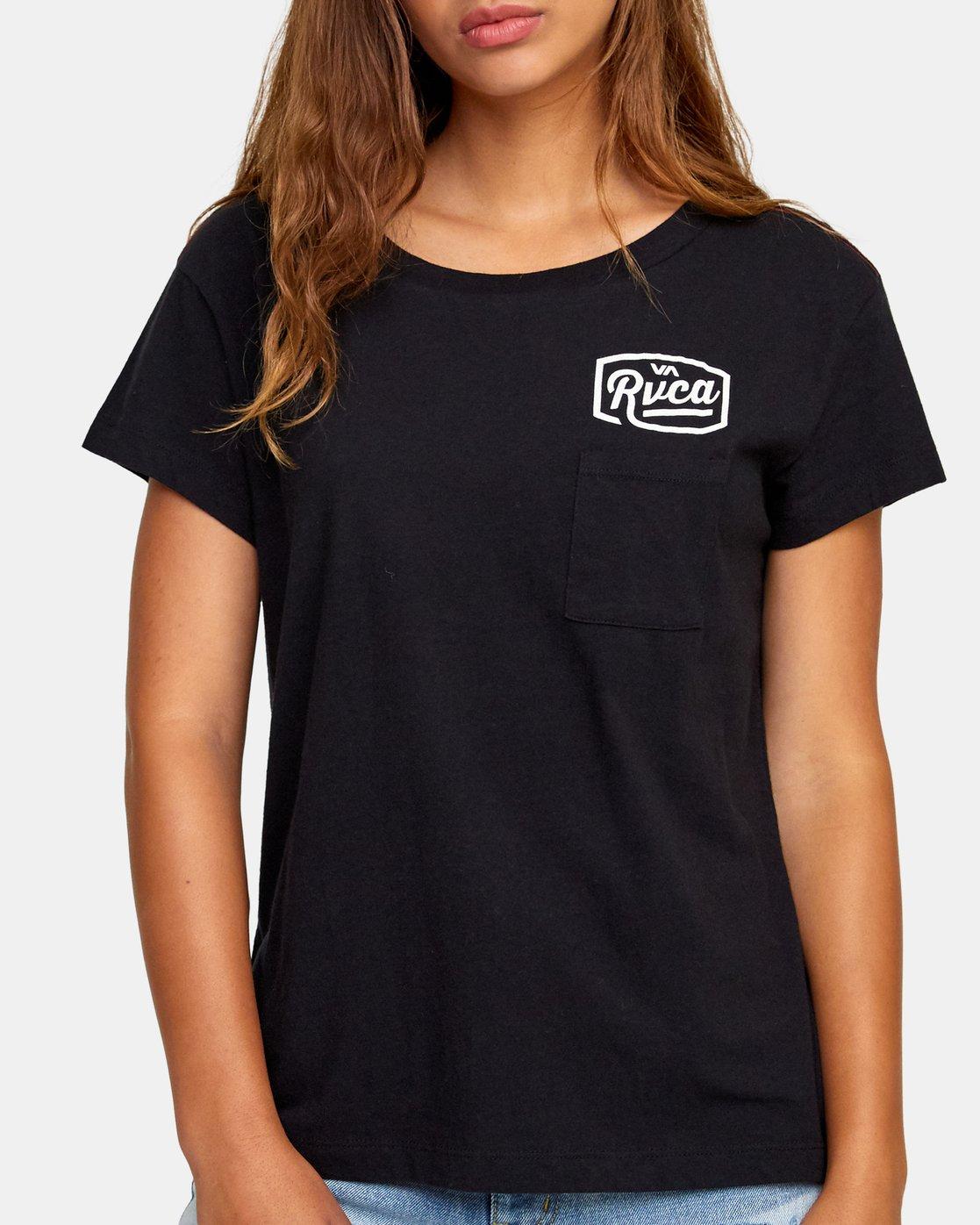 3 Phil Street Pocket T-Shirt Black W412WRPH RVCA